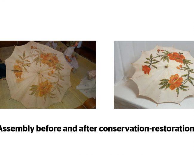 Painted umbrella – restoration-conservation